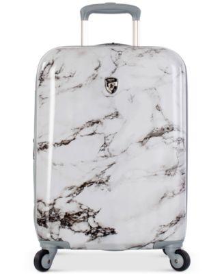 """Bianco Stone-Print 21"""" Hardside Spinner Suitcase"""