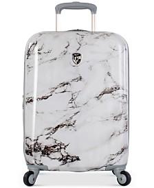 """Heys Bianco Stone-Print 21"""" Hardside Spinner Suitcase"""