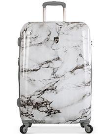 """Heys Bianco Stone-Print 26"""" Hardside Spinner Suitcase"""