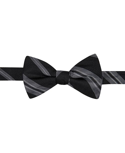 Ryan Seacrest Distinction Men's Imperial Stripe Pre-Tied Bow Tie, Created for Macy's