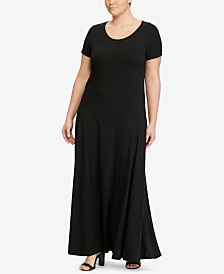 Lauren Ralph Lauren Plus Size Short-Sleeve Fit-and-Flare Dress