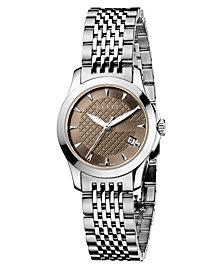 Gucci Women's Swiss Stainless Steel Bracelet Watch 44mm YA126503