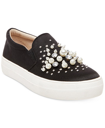 Women's Glamour Pearl-Embellished Sneakers