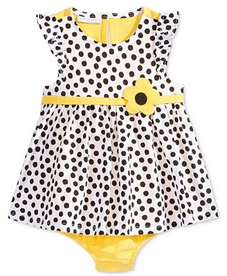 First Impressions Dot-Print Cotton Skirted Romper, Baby Girls (0-24 months), Only At Macy's
