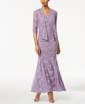 1930s Day Dresses, Afternoon Dresses History R  M Richards Petite Lace Gown and Jacket $139.00 AT vintagedancer.com