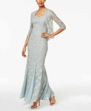 Vintage Inspired Bridesmaid Dresses, Mothers Dresses R  M Richards Petite Lace Gown and Jacket $139.00 AT vintagedancer.com
