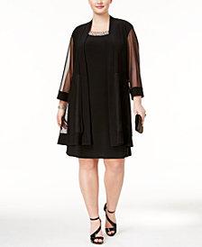 R & M Richards Plus Size Shift Dress and Jacket