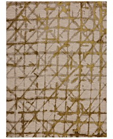 """Enigma Contact Brushed Gold  5'3"""" x 7'10"""" Area Rug"""