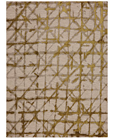 "Karastan Enigma Contact Brushed Gold 2'4"" x 7'10"" Runner Rug"