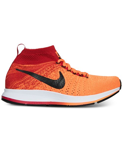 5caefd9d2605 ... Nike Big Boys  Zoom Pegasus All Out Flyknit Running Sneakers from  Finish ...