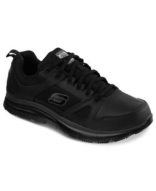 a97e96f82117 ... Skechers Men s Work Relaxed Fit  Flex Advantage SR Sneakers from Finish  ...