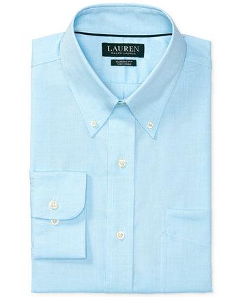 Lauren Ralph Lauren Men's Pinpoint Oxford Classic/Regular Fit Non-Iron Pink  Dress Shirt - Dress Shirts - Men - Macy's