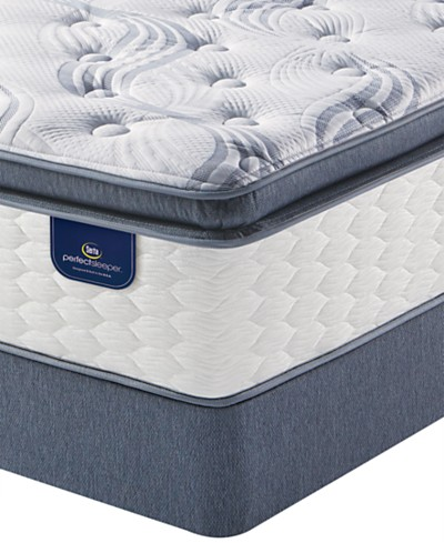 Serta Perfect Sleeper® Graceful Mist 13.75 Plush Pillowtop Mattress Set- Queen