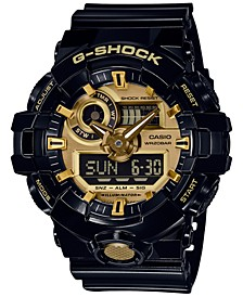 Men's Analog-Digital Black Resin Strap Watch 54mm GA710GB-1A