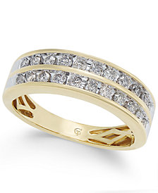Diamond Two-Row Band (1/2 ct. t.w.) in 14k Gold