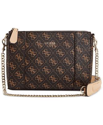 GUESS Kamryn Small Chain Strap Signature Crossbody - Handbags U0026 Accessories - Macyu0026#39;s