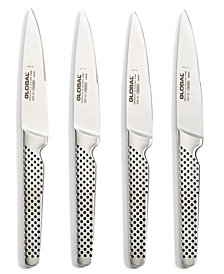 Global Stainless Steel 4-Pc. Steak Knife Set
