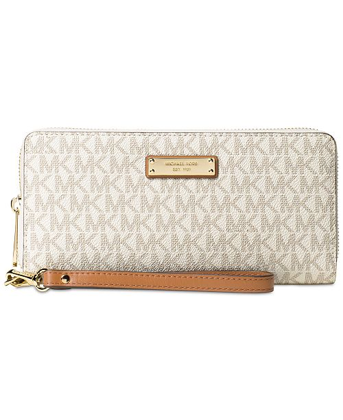 a3ca163407a115 Michael Kors Signature Jet Set Item Travel Continental Wallet ...