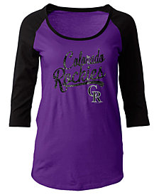 5th & Ocean Women's Colorado Rockies Sequin Raglan T-Shirt