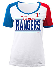5th & Ocean Women's Texas Rangers CB Sleeve T-Shirt