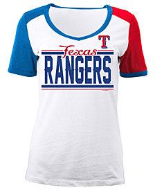 5th & Ocean Women's Texas Rangers CB Sleeve T-Shirt