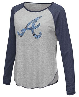 Touch by Alyssa Milano Women's Atlanta Braves Line Drive Long Sleeve T-Shirt