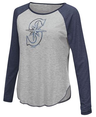 Touch by Alyssa Milano Women's Seattle Mariners Line Drive Long Sleeve T-Shirt