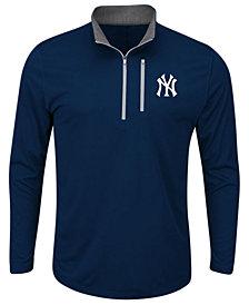 Majestic Men's New York Yankees Six-Four-Three Quarter-Zip Pullover