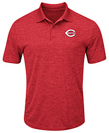 Majestic Men's Cincinnati Reds First Hit Polo Shirt
