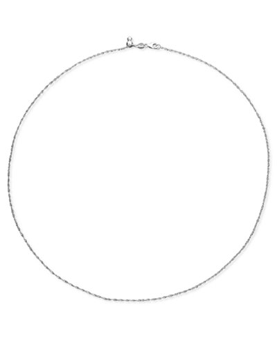 14k White Gold Necklace, 16-20