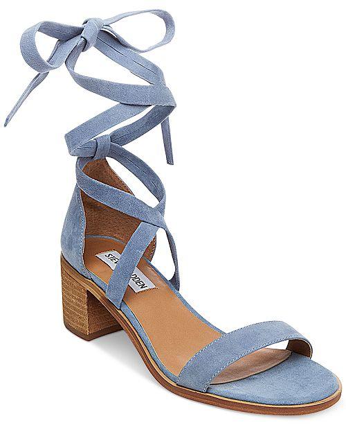 Women's Lace Sandals Heel Up Madden Steve Rizza Block Sandals nF7Ufq