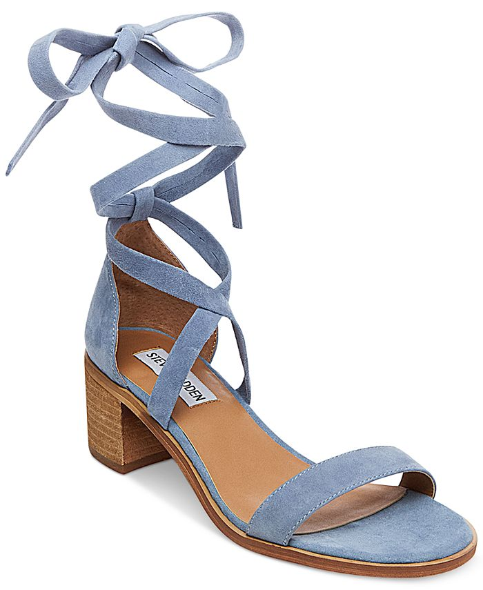 Steve Madden - Women's Rizza Lace-Up Block-Heel Sandals