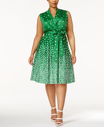 Anne Klein Plus Size Printed Wrap Dress - Dresses - Plus Sizes ...