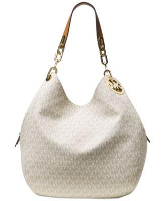 michael kors signature fulton large shoulder bag handbags rh macys com