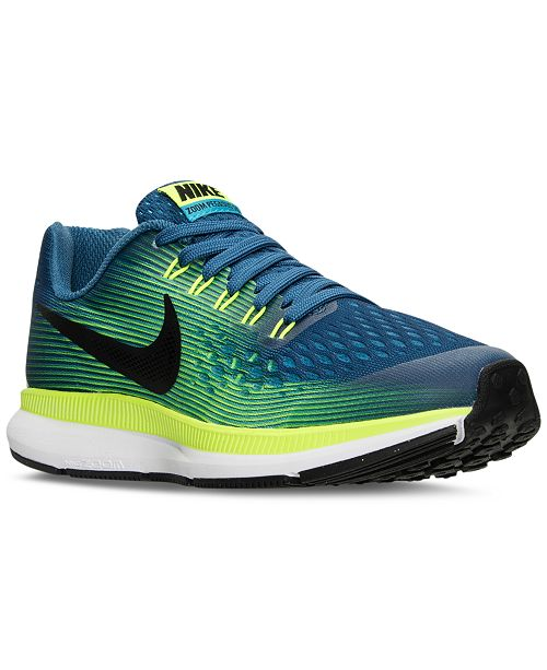 low priced 09149 f9dcb ... Nike Big Boys  Air Zoom Pegasus 34 Running Sneakers from Finish ...