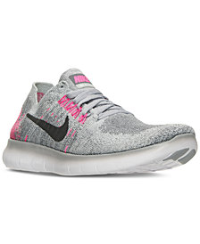 Nike Big Girls' Free Run Flyknit 2017 Running Sneakers from Finish Line