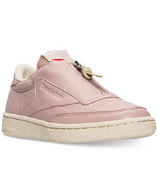 Reebok Women's Club C Zip Casual Sneakers from Finish Line