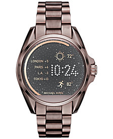 Michael Kors Women's Bradshaw Sable-Tone Stainless-Steel Bracelet Smart Watch 44mm MKT5007