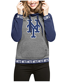'47 Brand Women's  New York Mets Revolve Hooded Sweatshirt