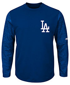 Majestic Men's Los Angeles Dodgers AC On-Field Tech Fleece Pullover