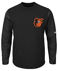 Majestic Men's Baltimore Orioles AC On-Field Tech Fleece Pullover
