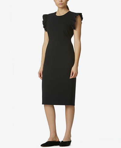Avec Les Filles Dress with Ruffle-Sleeve Detail