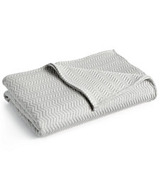 Lacoste Home Cotton Chevron Quilted Full/Queen Coverlet