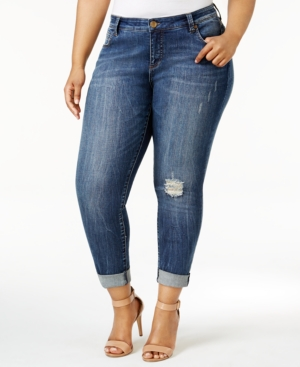 Kut From The Kloth  KUT FROM THE KLOTH PLUS SIZE CATHERINE DESTRUCTED BOYFRIEND JEANS