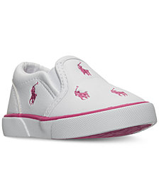 Polo Ralph Lauren Baby Girls' Bal Harbour Repeat Layette Slip-On Casual Sneakers from Finish Line
