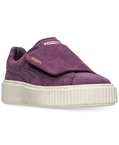 purple puma shoes suede