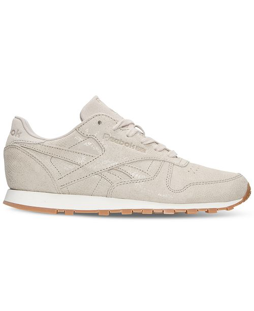 ... Reebok Women s Classic Leather Exotic Casual Sneakers from Finish ... d048d85e1f
