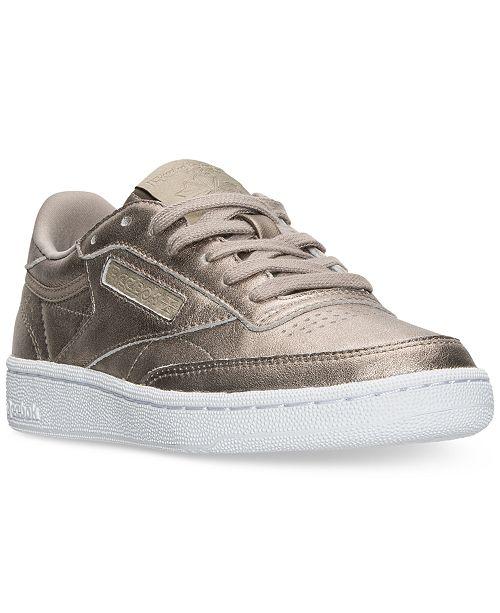 752b48bbcb0cf0 Reebok Women s Club C Metallic Casual Sneakers from Finish Line ...