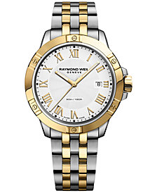 RAYMOND WEIL Men's Swiss Tango Two-Tone PVD Stainless Steel Bracelet Watch 41mm 8160-STP-00308