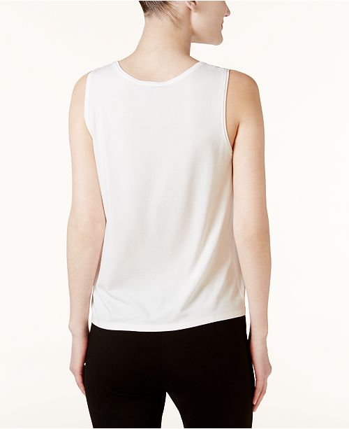 White Fisher Jersey amp; Top SYSTEM Regular Petite Tank Silk Eileen 7FdxzCwqz